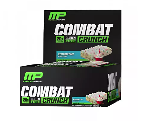 Muscle Pharm Combat Crunch Bars - Box of 12