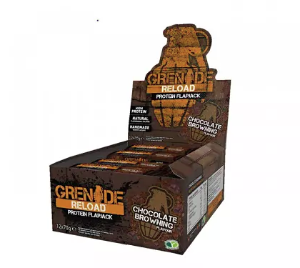 Grenade Reload Protein Flapjack - Box of 12